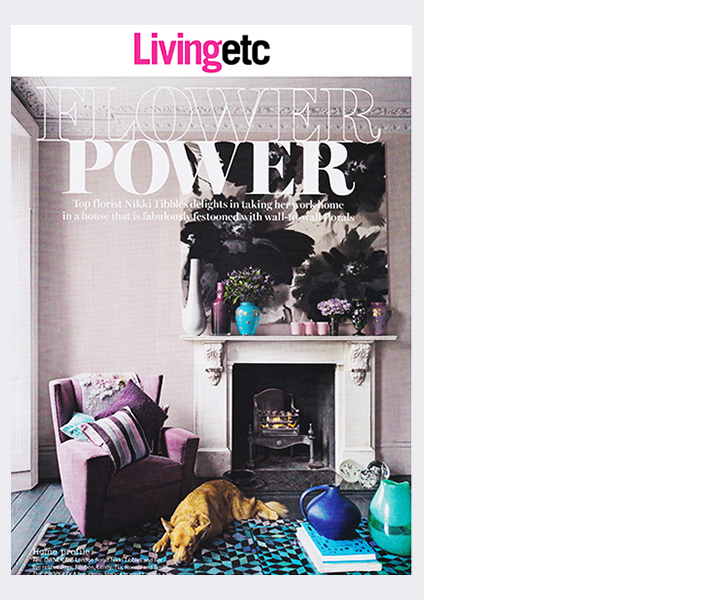 Living Etc. magazine (2015)  (Home of Wild at Hearts Nikki Tibbles)
