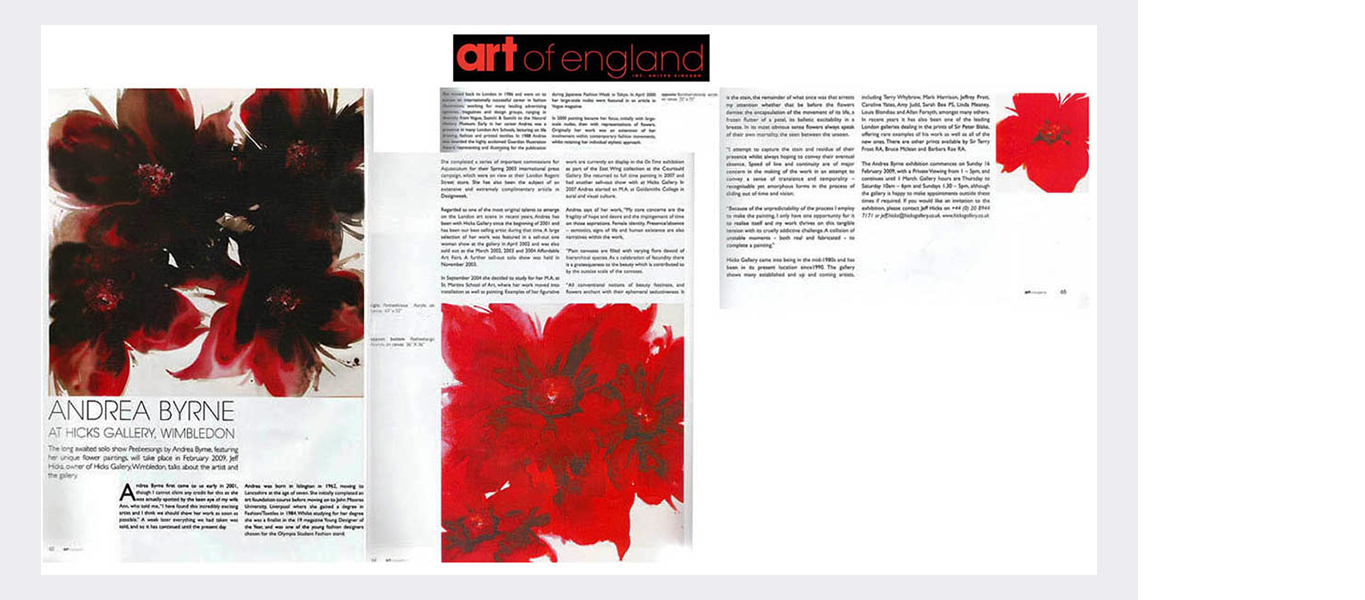 Art Of England magazine (2009)  (see text link in panel)