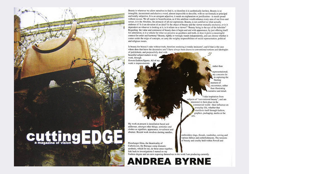 Cutting Edge magazine / John Moores University Liverpool (2006)  (see text link in panel)