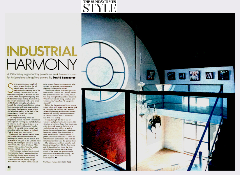 Sunday Times Style  (The Organ Factory Gallery) (2004)