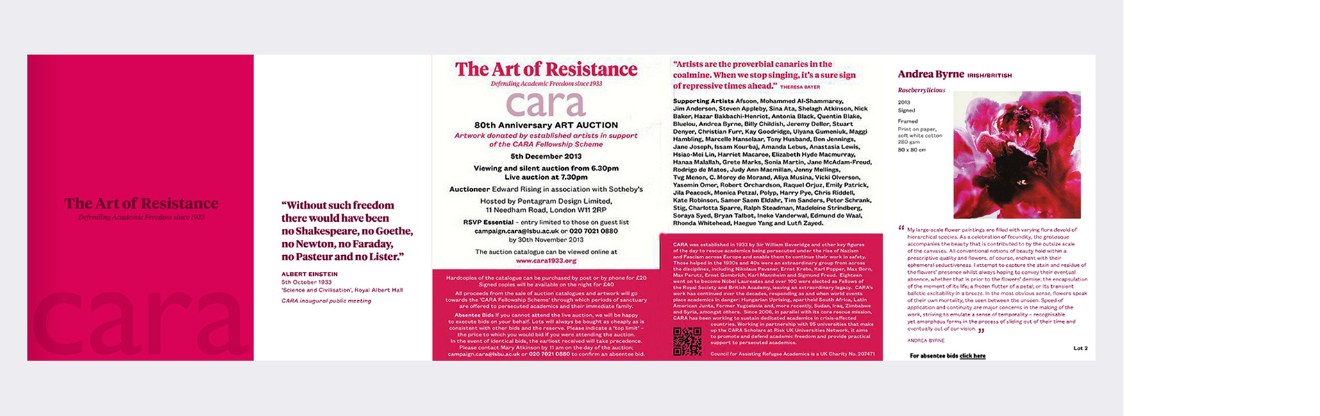 C.A.R.A. (Defending Academic Freedom since 1933) The Art of Resistance Auction (2013)