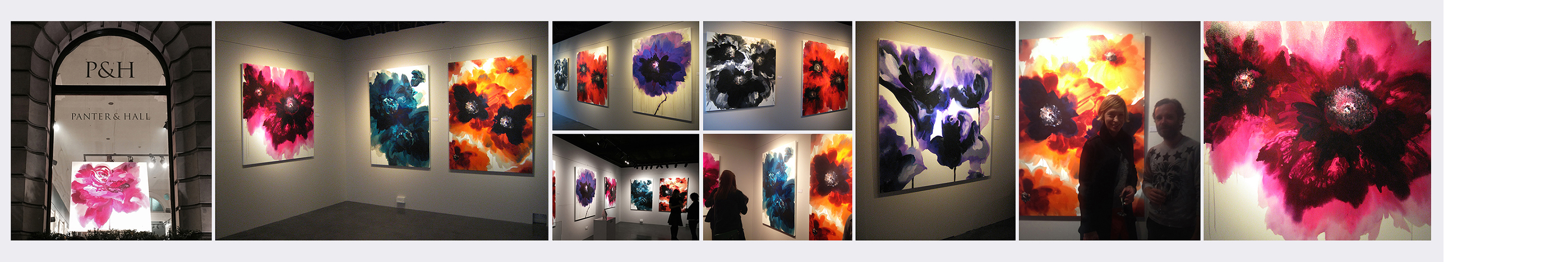 'Wallflower' solo show installation shots