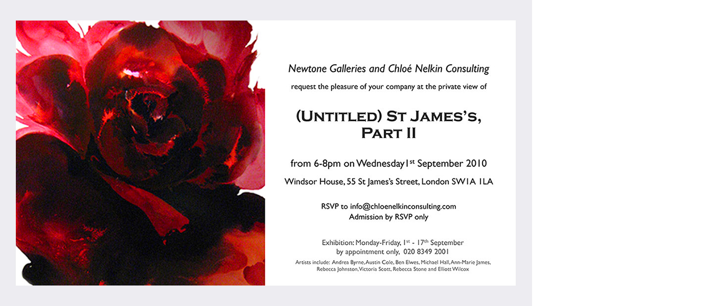 'Untitled' Newtone Galleries & Chloe Nelkin Consulting  Windsor House, St. James, London (2010)