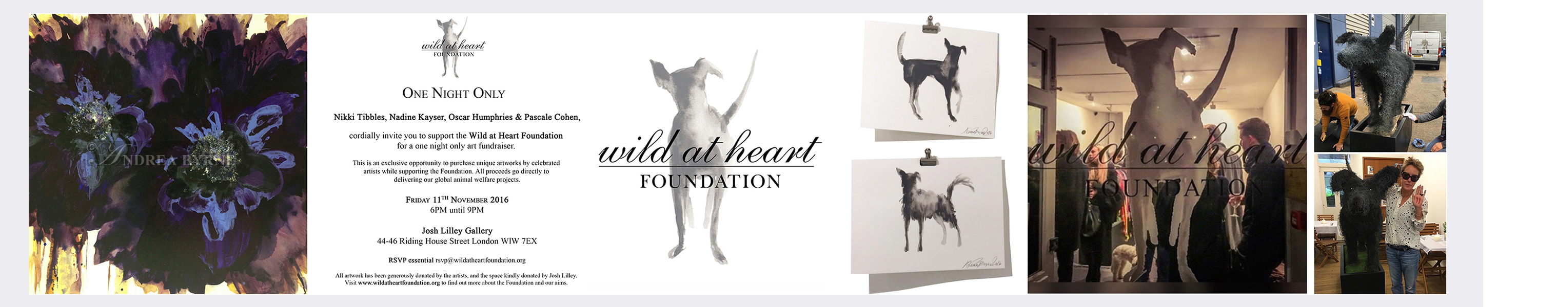 'Bluebluebloom' and 'logo dogs' donated to the Wild At Heart Foundation - Josh Lilley Gallery London (2016)