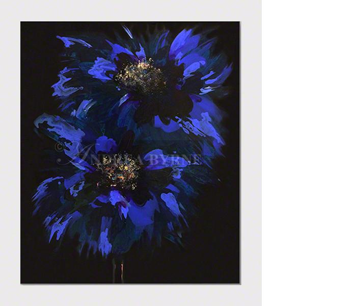 """Lilamoonshine (2017) -  (47"""" x 39"""" / 120cm x 100cm) Acrylic / varnish / canvas."""