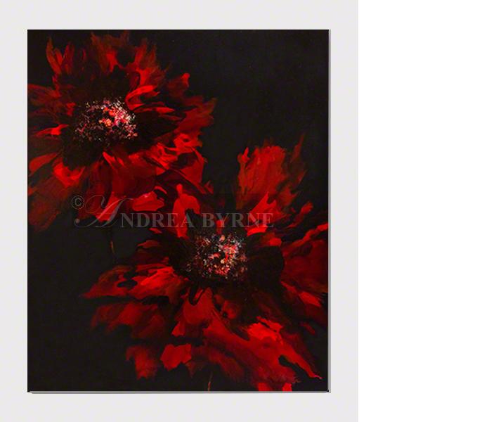 """Rubymoonlight (2017) -  (47"""" x 39"""" / 120cm x 100cm) Acrylic / varnish / canvas."""