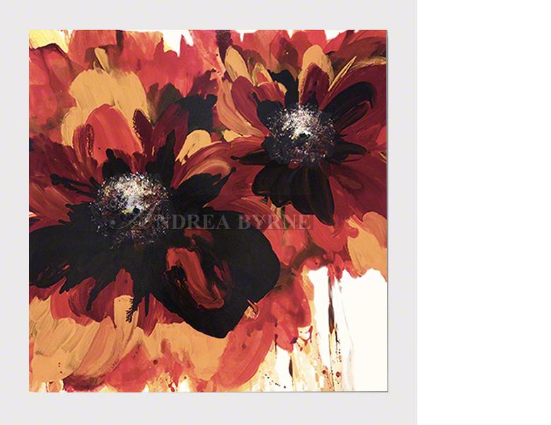 "Bedredheart (2016) - (43"" x 43"" / 109cm x 109cm)  Acrylic / varnish / canvas."