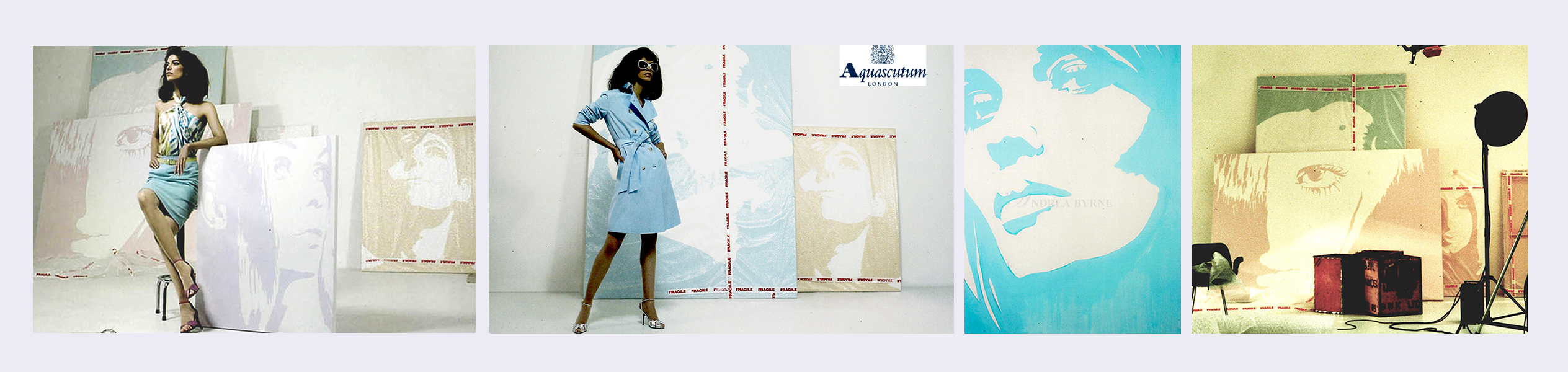 Aquascutum Press Campaign & Brochure (2003)  (see link in panel)