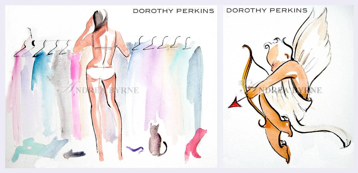 Dorothy Perkins greeting cards  /  Dorothy Perkins Valentine Day windows (1997)