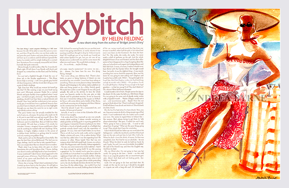 The Telegraph 'Lucky Bitch' by Helen Fielding  (2003)