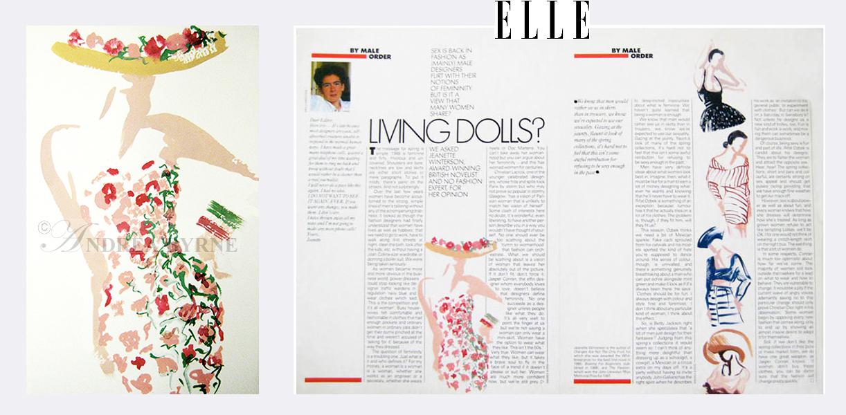 Elle Magazine / Jeanette Winterson (1990's)