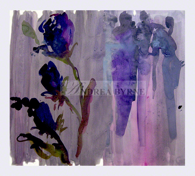 'Violets' (30cm x 42cm / 11.7″ x 16.5″)